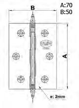 BISAGRA 1003(3020)70X50 LATON PULID