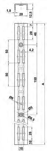 CREMALLERA 7000-150 BLANCA (2 UND)