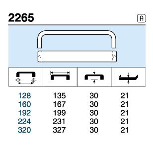 TIRADOR 2265.128 ANODIZADO MAT