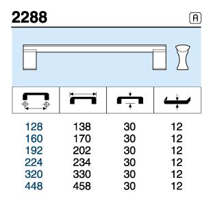 TIRADOR 2288.160 ANODIZADO MAT