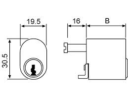 CILINDRO 5964/2525/3 25x25-3 LATON (1964)
