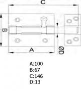 PASADOR 454-100 LTDO. BARNIZ