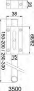 PASADOR 3600-250 LATON