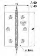 BISAGRA 1003-60X40 LATON PULID