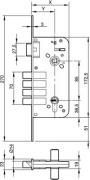 CERRADURA 8912-80 FL 5 LLAVES
