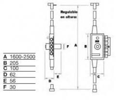 CERRADURA MB-86 PL PINTADA UVE
