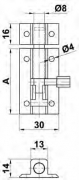 PASADOR 500- 50 LACADO BLANCO