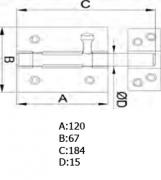 PASADOR 454-120 LTDO. BARNIZ