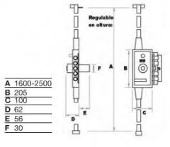 CERRADURA MB-86 PL PINT BOM.70