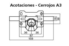 CERROJO A-3 DORADO CAYS