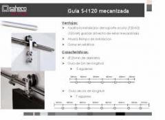 GUIA CARRIL SF-I120 INOX 3 MTR