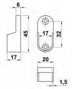 SOPORTE 7-30x15 LATERAL PLATA MATE 15182