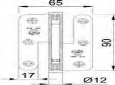 PERNIO 427 90x65 INOX IZQA