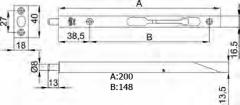 PASADOR 401-200 INOX