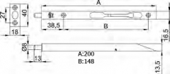 PASADOR 401-200 CROMO MATE