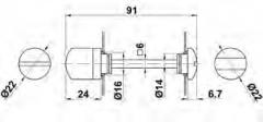 MULETILLA 4 INOX C/DESBLOQUEO