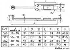 PASADOR REF 299  15 CM. BICROM