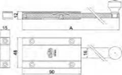 PASADOR 3700-250 LATON CROMO M