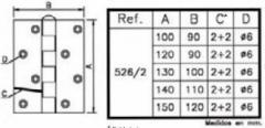 BISAGRA REF 526-2 130X100 NEGR