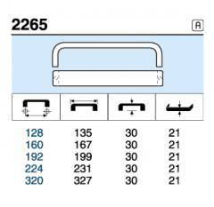 TIRADOR 2265.160 ANODIZADO MAT