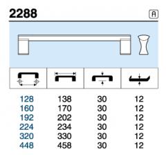 TIRADOR 2288.128 ANODIZADO MAT