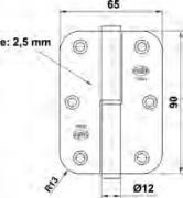 PERNIO N05 N1065 100x65 INOX IZQA C/R 23318