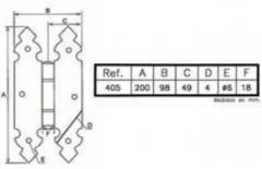 BISAGRA PORTON REF 405 ANTICUA