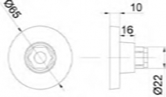MAMPARA SOPORTE PARED PARA 114 INOX