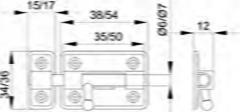 PASADOR 383-35 CROMADO