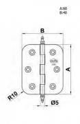 BISAGRA 1030-60X40 LATON PULIDO C/REDONDO