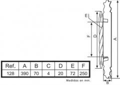 TIRADOR ASA MARTILL.REF 128 20x300