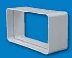 EMPALME PVC PARED RECTANG.220x55 REF 1090