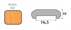 MOLDURA U-16 MEL.BLANCO 2.43