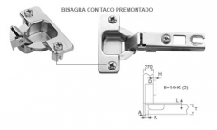 BISAGRA COCINA N05 35 RECTA AVION 25500