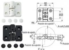 BISAGRA PLASTICO 50X60 4 POSICIONES MARFIL  97097
